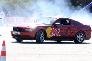 Ford Mustang s197 Red Bull Car Park Drift Carthage 2014 01 border